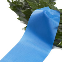 Funeral ribbon blue