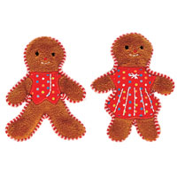 Gingerbread man couple