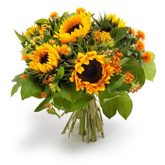 Golden seasonal bouquet