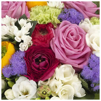 Mixed coloured bouquet
