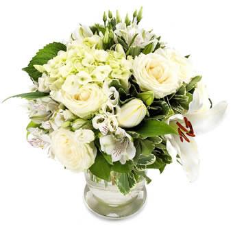 Weisse Blumen Versenden Frisch Vom Floristen Gebunden
