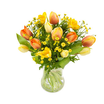 Frühlingsstrauß frühlingsstrauß in gelb orange vom floristen