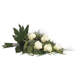 White funeral bouquet
