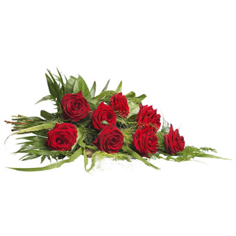 Funeral bouquet - red