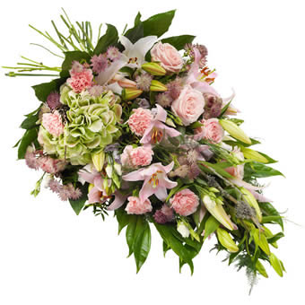 Funeral sheaf in pink