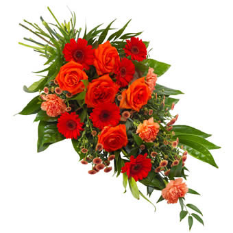 Orange Funeral Sheaf