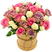 Sweet Roses in Hatbox