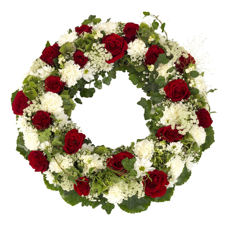 Elegant funeral wreath