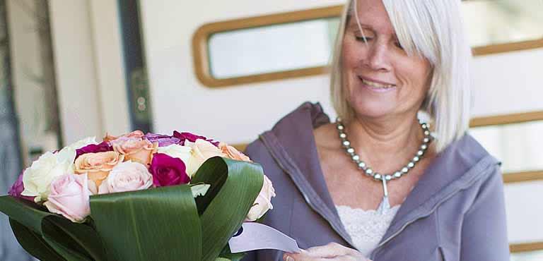Blumen zum Ruhestand