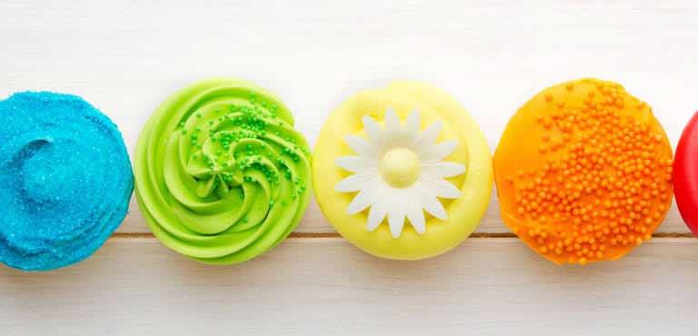 Cupcakes aus Blumen