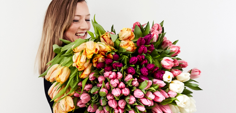 Send tulips online