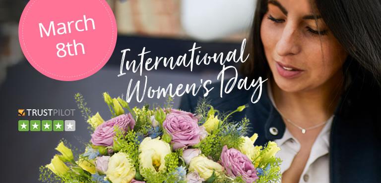 Send flowers for International Women's Day