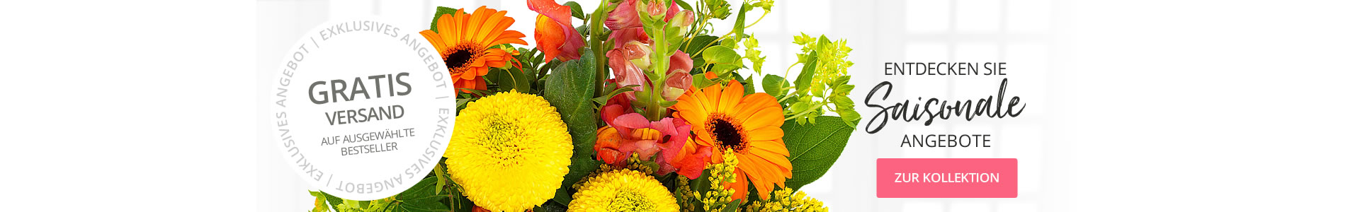 Gratis Blumenversand