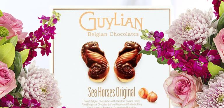 Blumen mit Gratis Schokolade